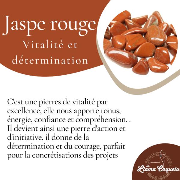 Mochicas Boucles d'oreilles Jaspe rouge la llama coqueta sur JUA&CO 3