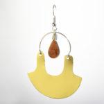 Mochicas Boucles d'oreilles Jaspe rouge la llama coqueta sur JUA&CO