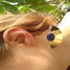 Boucles d'oreilles Sodalite la llama coqueta sur JUA&CO