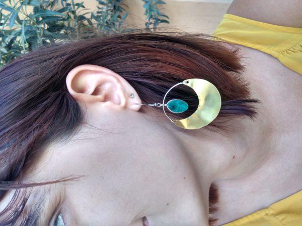 Boucles d'oreilles Chrysocolle la llama coqueta sur JUA&CO