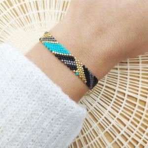 bracelet colorblock turquoise sur JUA&CO 3