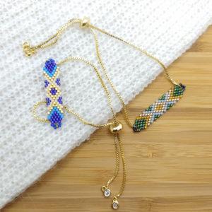 bracelets chainette vert et bleu sur JUA&CO 2