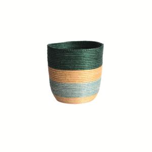 Cache pot Sisal bleu beige vert sur JUA&CO