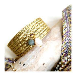 Bracelet passementerie et gemmes