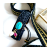 """Bracelet noir Turquoise Perle et racine de Rubis """"ZAHRI"""" sur JUA&CO"""