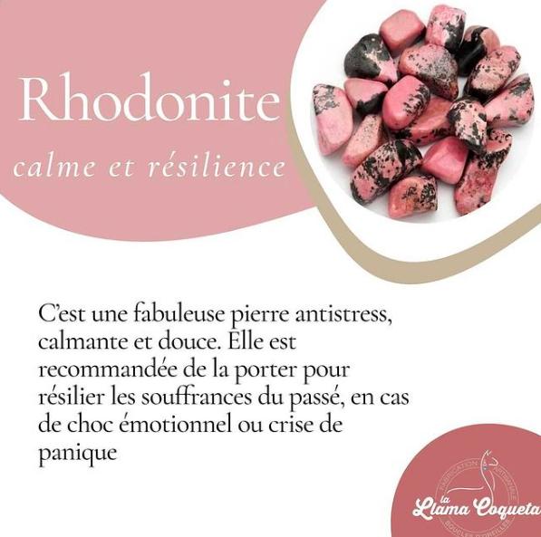 Les vertus de la Rhodonite