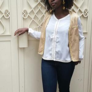 blouse col v mousseline Rachaa & you JUA&CO