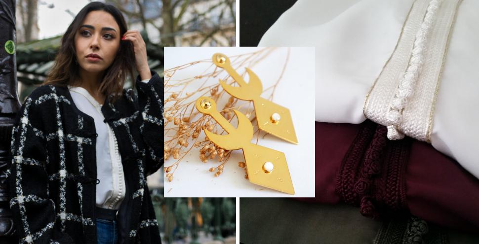 A gauche : manteau Rachaa&You,  / au centre : boucles d'oreilles Atelier Meemosa,  / à droite : blouses Rachaa&You