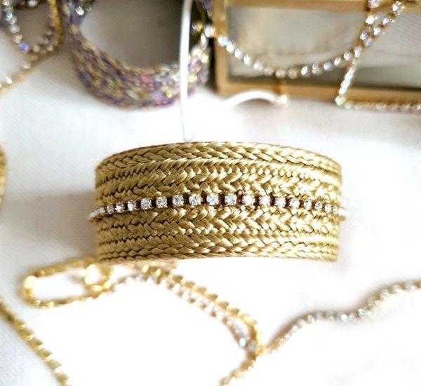 Bracelet en passementerie et swarovski