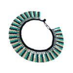 Collier Embera Chami bleu blanc noir sur JUA&CO