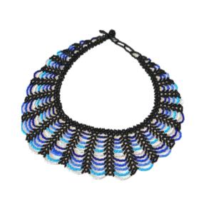Collier Embera Chami bleu sur JUA&CO