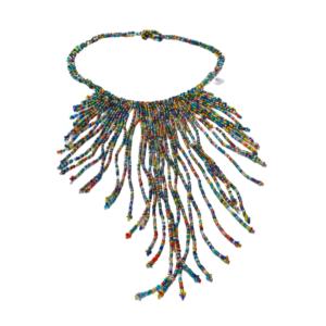 Collier Embera Chami multicolor sur JUA&CO