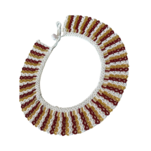 Collier Embera Chami rouge et blanc