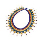 Collier Embera Chami soleil bleu marine sur JUA&CO