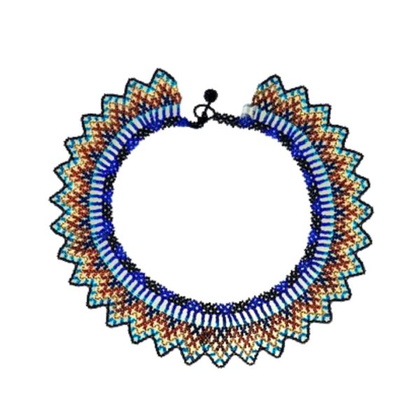 Collier Embera Chami soleil bleu sur JUA&CO