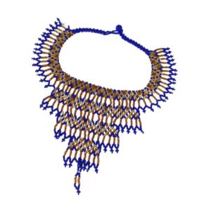 Collier Emebra bleu doré sur JUA&CO