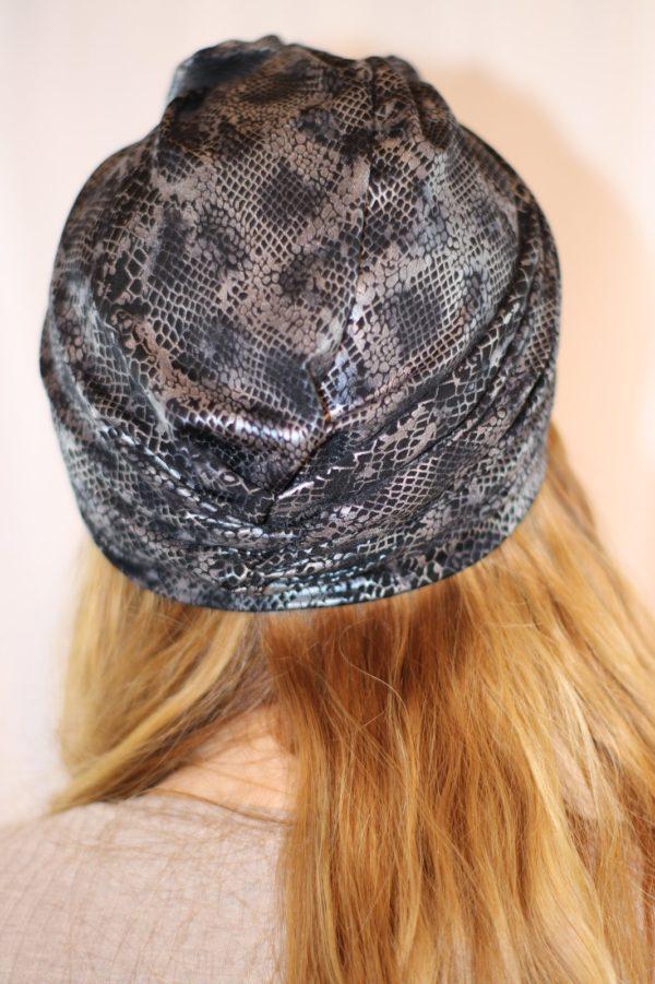 Turban à noeud motif python