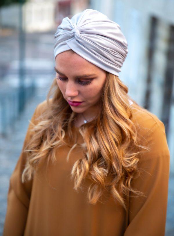 Turban simple argenté